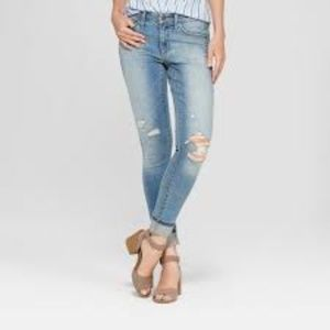 Women's Mid-Rise Distressed Skinny Jeans